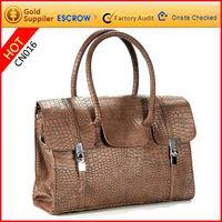 Guangzhou wholesale gorgeous high quality 100 genuine leather handbags