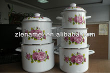 Stainless steel stock pot Enamel Casserole Pot/Enamel Stock Pot