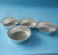 Heat resistant round silver cake pans aluminum