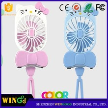 Summer promotional gift electric mini fan hand cartoon