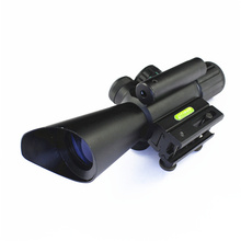 High quality 4x30 day or night sight for archery target sight riflescope M7 red laser sight rifle scope for hunting hot sale