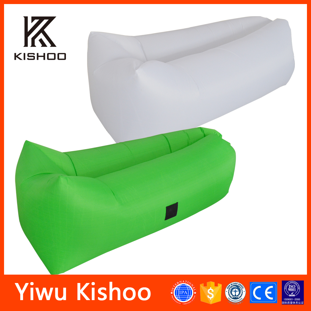 Outdoor Extra Wide Fabric Inflating Sleeping Bag, The Summer Beach Cool Inflatable Sleeping Bag Bed/