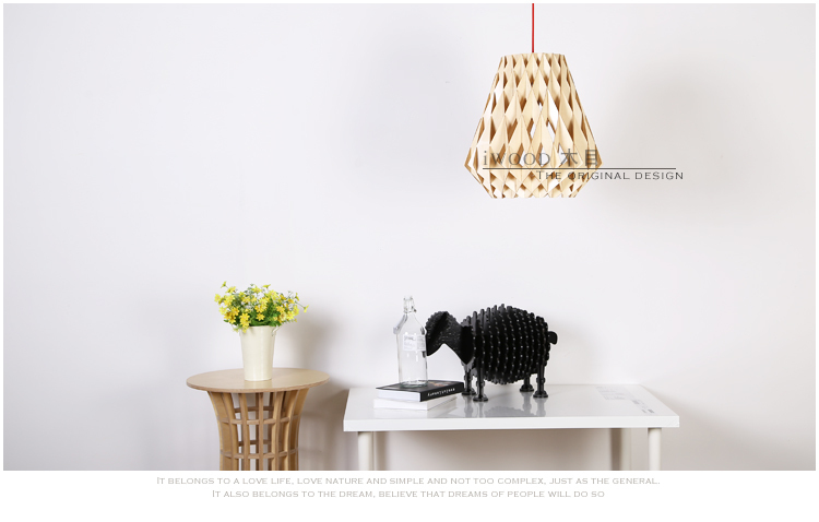 latest design wooden led chandelier light with modern design