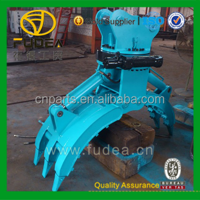 excavator wood grapple/ hydraulic grapple grab timber/ excavator rotating grab
