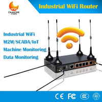 CM520-87F Industrial 4G wifi RJ45 modem wireless lte router with RS232 RS485 support modbus for fuel control, SCADA