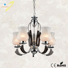 GZW20608-5P indoor decoration antique wood chandelier