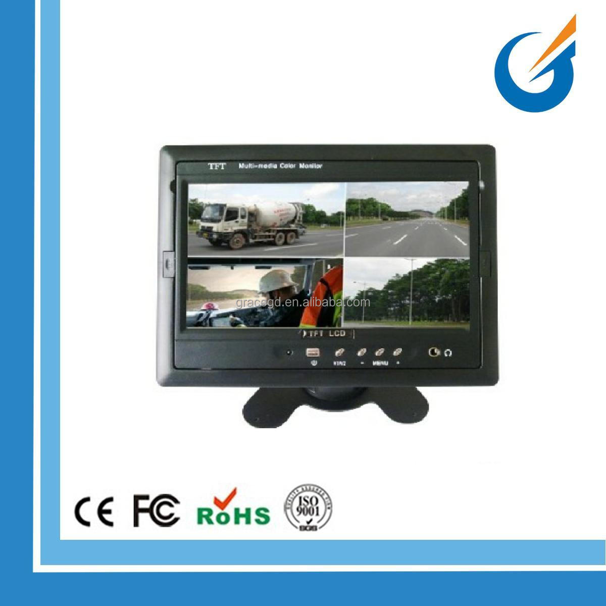 Good Quality Car Backup Mirror Camera Car 7 Inch TFT LCD Quad Monitor for Parking
