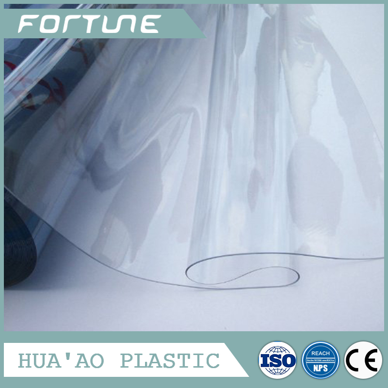 pvc super clear blue transparent film pvc glass crystal sheet for table cover
