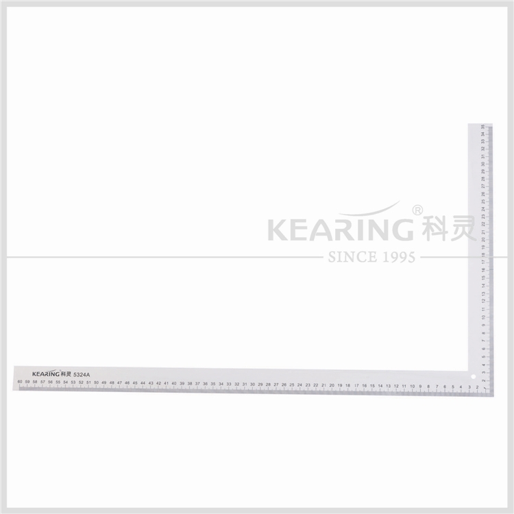 Kearing brand aluminum sewing L square ruler for fashion design#5324A