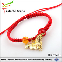 Chinese Knot Red Thread String Bracelet cheap red cotton friendship bracelets with cock charm