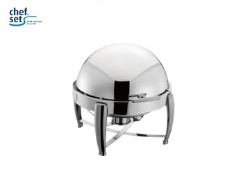 6L Roll top good quanlity stainless steel round Chafing dish
