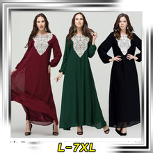 Muslim women clothing muslim robe Appliques morocco dresses arab female abaya saudi arabia chiffon indonesia muslim dress