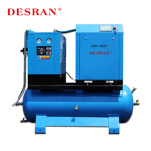 High Quality 8 Bar Screw Tank Mounted Air Compressor Manufacturers With Air Dryer