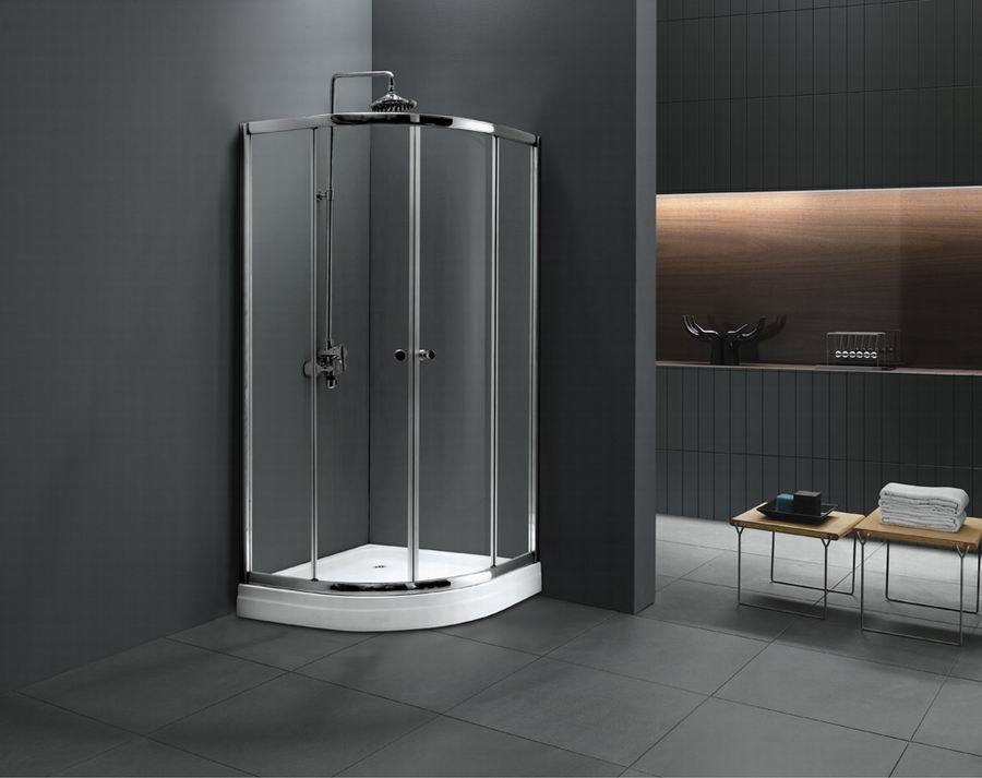 Monalisa sliding opened tempered glass shower room with top shower (M-640)