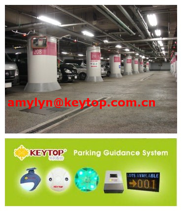 xiamen keytop parking guidance system with parking system software in rs485 communication