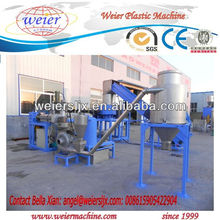plastic PP PE film recycling pelletizing extruders