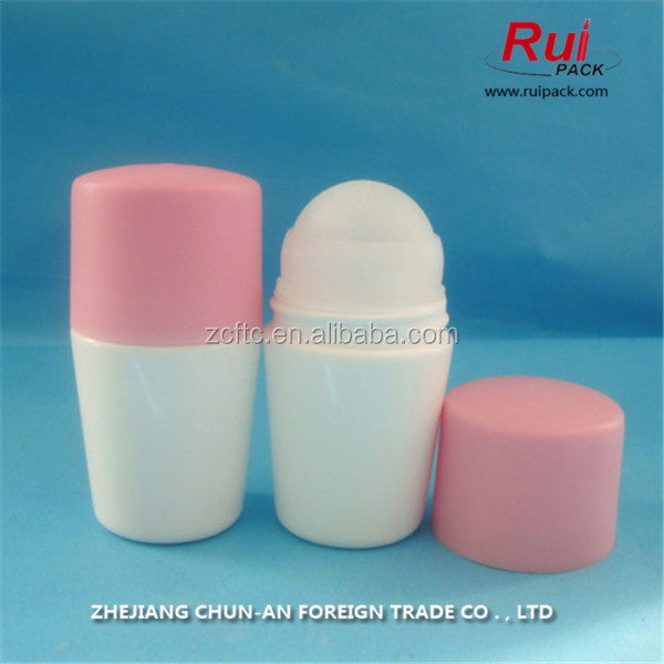 50ml big roll on bottle deodorant roll on packaging,Plastic roll on bottle for personal care