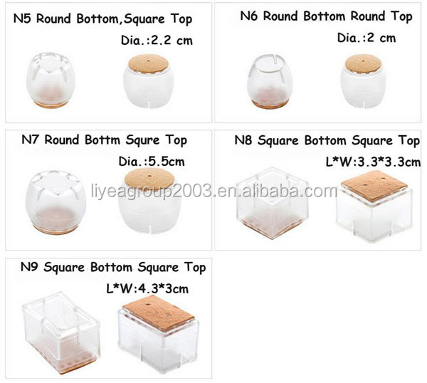 Non Slip Rubber Chair Leg Caps Furniture Leg Cups Anti Skid Pads For  Furniture Rubber Feet For Stools No Slip Furniture Pads