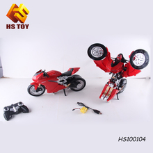 RC electric motorbike one key transformed electronic robot car toys transforming robot toy