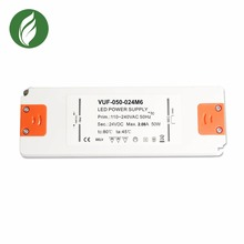 Led driver step down constant voltage slim 50w 24v 2.1a ultra thin power supply