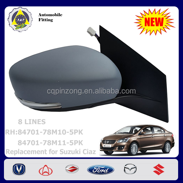 New Arrival Body Parts LH Side Mirror Out Rear View Mirror For Suzuki Swift 1.3L OEM 84702D77J30C000