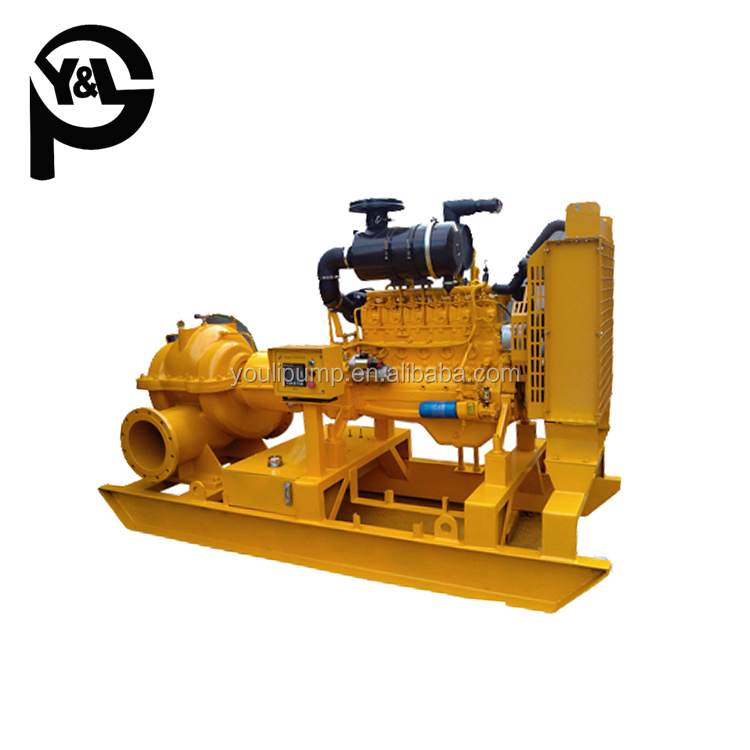 Horizontal split case type diesel engine driven water pumps