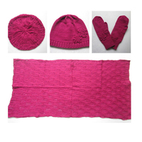 Hot Sale Custom Design Knitted Pink