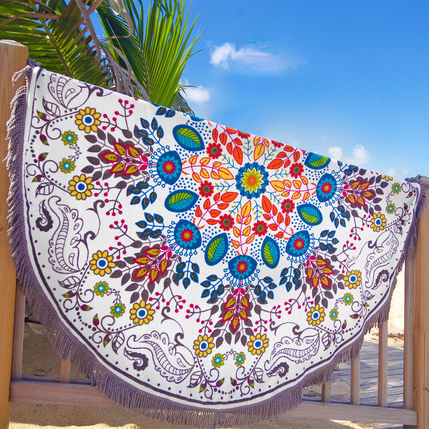 Made In Turkey Round Beach Towel With Tassels From Factory,Australian The Beach People Roundie