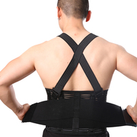 Back Brace Lumbar Support with Adjustable Suspenders, front Velcro for Easy and Quick Fastening, High Quality Breathable Back