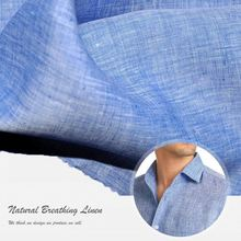 washed natural pure flax 100% linen fabric wholesale price per meter for shirt / dresses