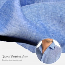 washed natural pure flax clothing 100% linen fabric wholesale price per meter for shirt / dresses