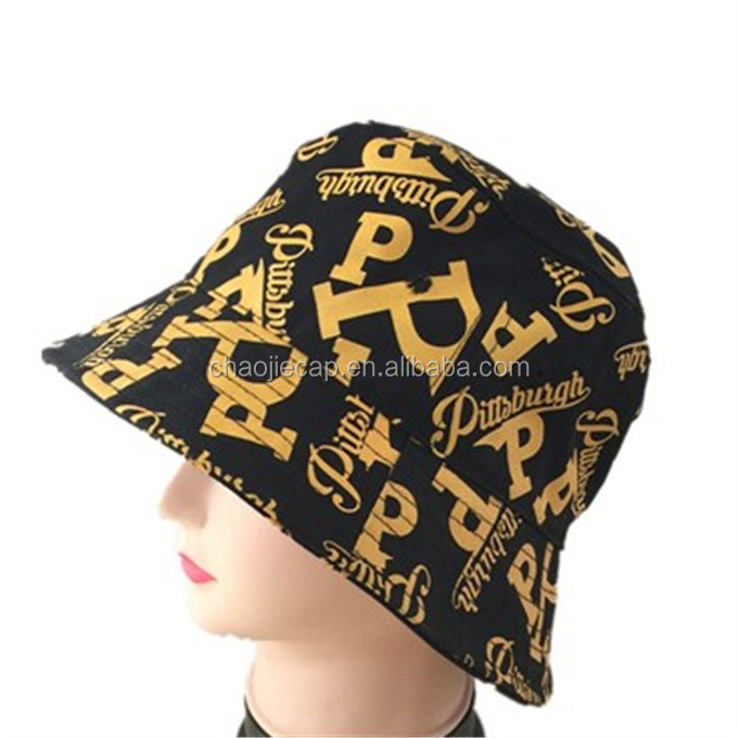 Fashion printed 100% cotton bucket cap and hat