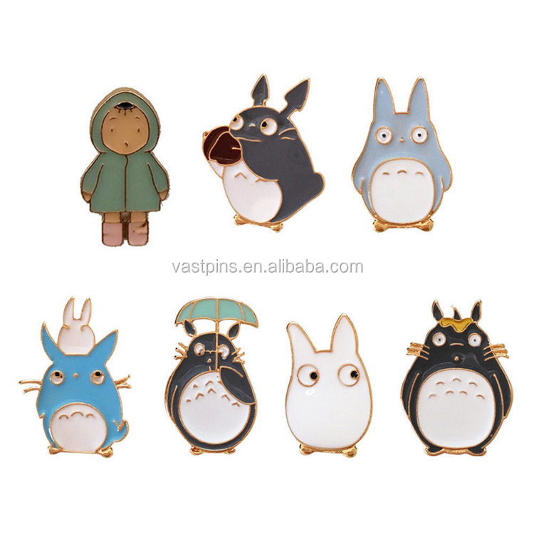 Creativity cute custom animal metal badge for children cartoon gift with no MOQ
