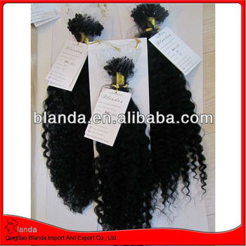 high quality 100% malaysian curly hair Micro Link Hair Extensions