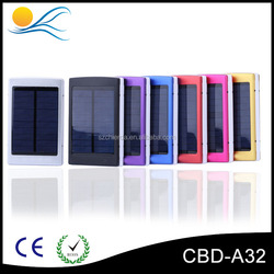 New Design 2015 10000mah solar charger power bank with 5V solar panel , solar power bank charger for mobile phone