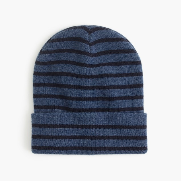 KNITTED BEANIE(HAT) WITH STRIPE