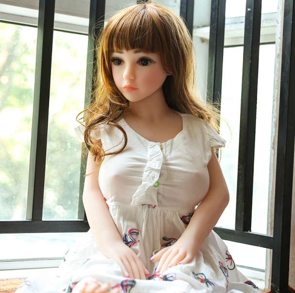 100cm Mini Flesh Sex Doll,Tpe Silicone Cute Love Sex Girl Doll