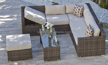 Lounger designed home terrace wicker l shaped sofa set outdoor bellagio rattan garden furniture