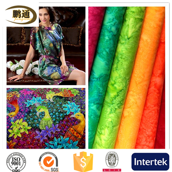Colorful silk supplier plain dyed fabric on sale