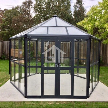 Elegant Luxury Hexagon Aluminium 4MM  Tempered Glass Home Garden Greenhouse GM36002