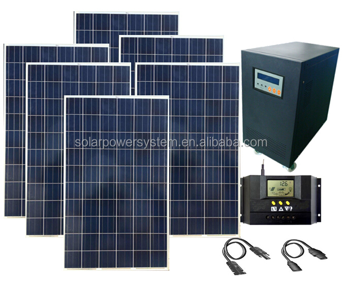 High quality off grid auto switch 6000w solar power solar charger mobile
