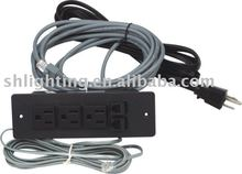 3 plug with phone, data jack extension socket