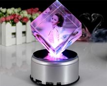 2015 light base crystal 3d laser for christmas gifts