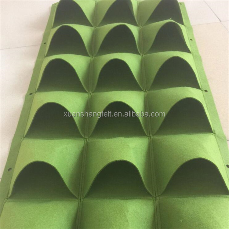 2017 new polyester strawberry Felt grow Bag
