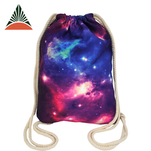 Cheap Fashion 4c Print Backpack Travel Beach Gymsack Swimming Canvas Drawstring Bag
