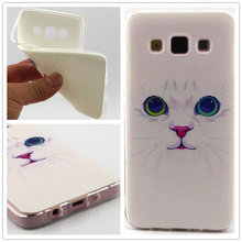 Cat Animal Ultra Thin TPU Soft Back Cover Case for Samsung Galay A5 A3 S5MINI S5 S4 MINI S4 S3MINI S3 S6 S6Edge Back Case