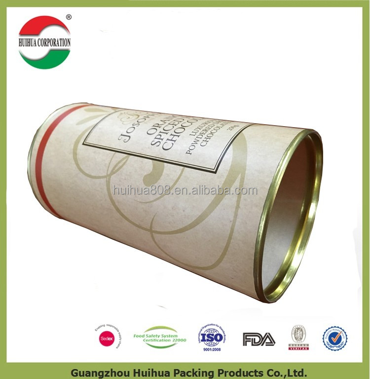 Wholesale recyclable paper cylinder packing tube box cardboard cylinder box with lids clamshell packaging