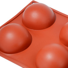 6pcs round shape silicone cake mould eggs silicone baking pans top quality silicone bakeware