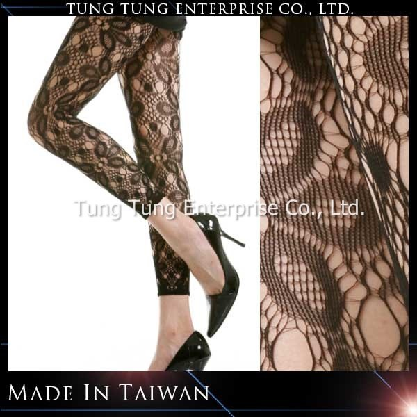 Taiwan Manufacturer Petal Net Lace Girls Fitness Tights