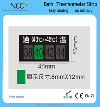 EN71 clothes thermometer OEM LCD display room thermometer strip with self adhesive sticker